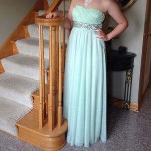 Sz 9 Mint Green Sparkly Prom Dress by MyMichelle
